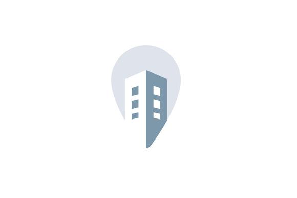 House Pin Negative Space Logotype