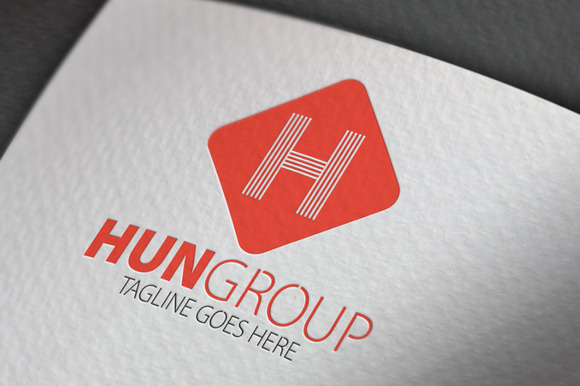 Hun Group H Letter Logo