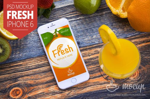 IPhone 6 PSD Mockup Fresh A