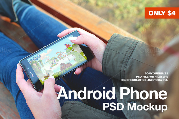 Android Phone Mockup Xperia Z1
