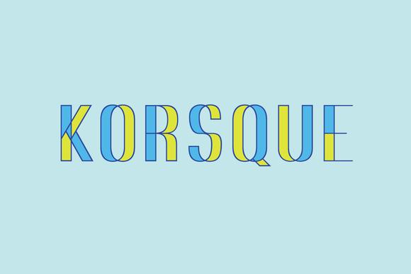 KORSQUE Stackable Layered Font