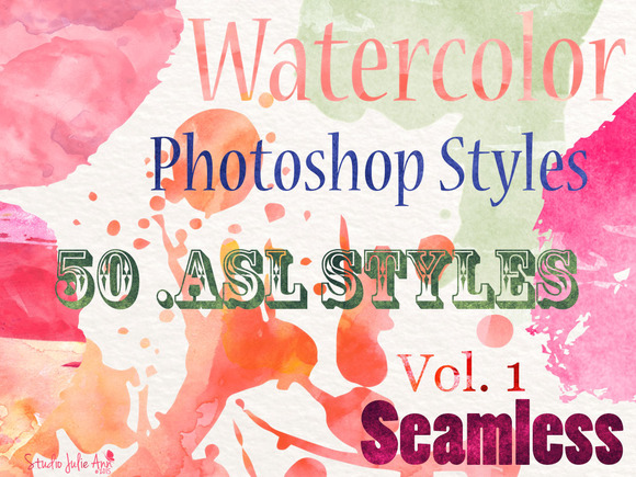 Watercolor Photoshop Asl Styles