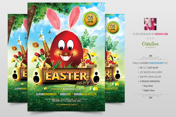 Easter Party Flyer Poster
