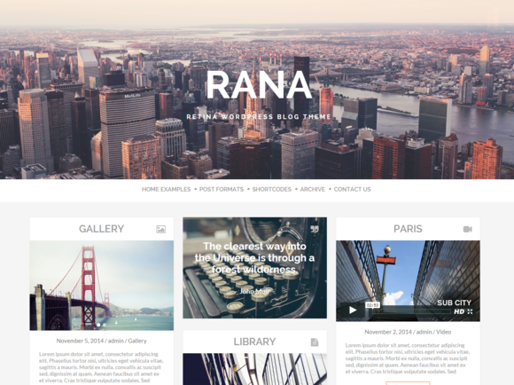 Rana Retina WordPress Blog Theme