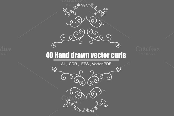 Hand Drawn Decorative Curls