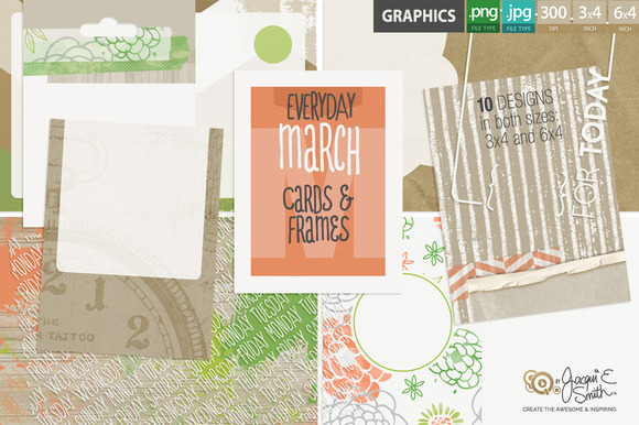 Everyday March Pocket Cards