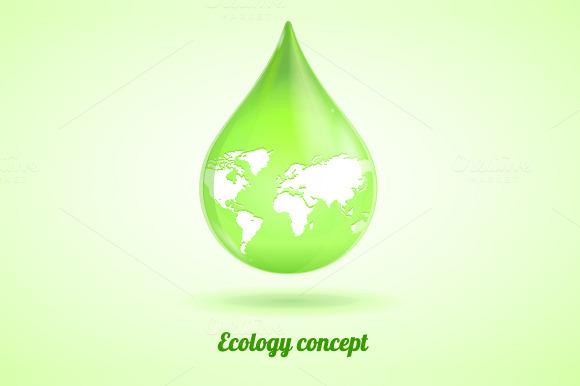 Vector Green Drop Ecology Concept
