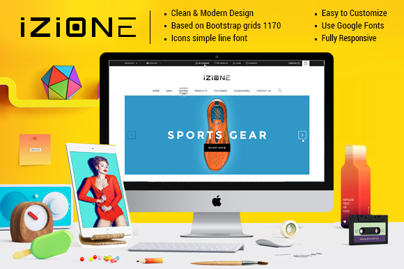 Izione Ecommerce PSD Template