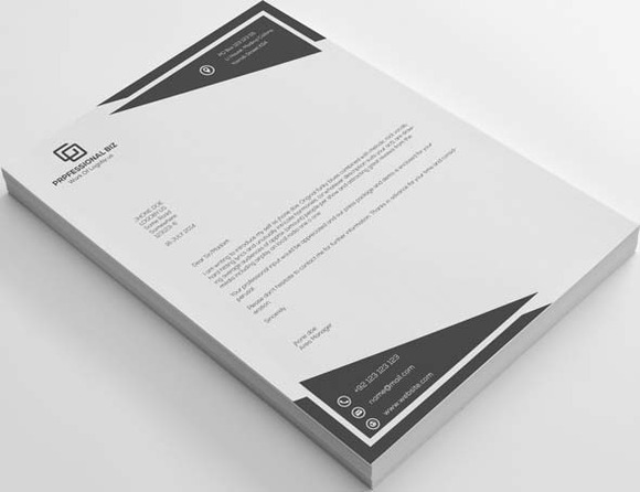 30 Professional Business Letterheads