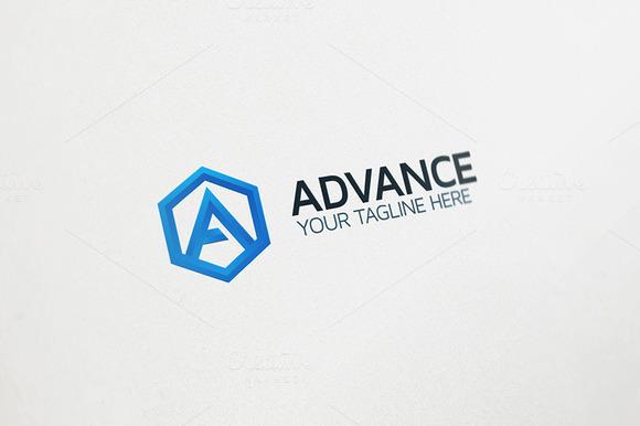 A Letter Logo Advance Tech Logo