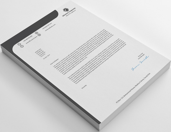 Corporate 20 Advance Letterhead