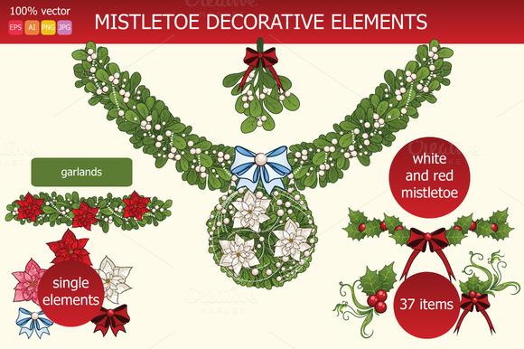 Mistletoe Decorative Elements