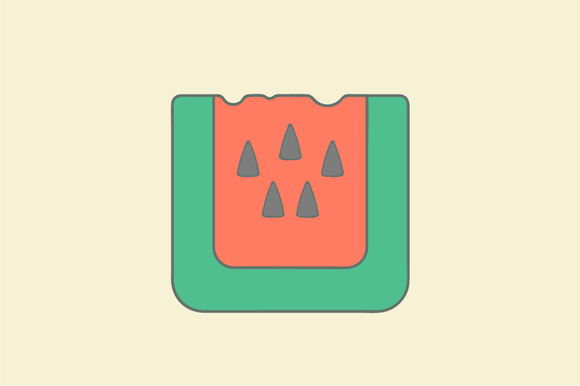Watermelon Flat Icon