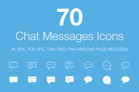 70 Chat Messages Icons