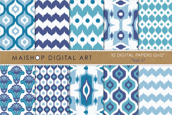 Digital Paper Ikat II
