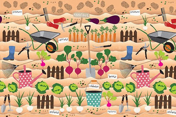 Seamless Pattern With Gardening Icon