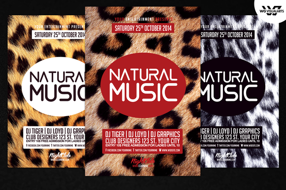 Natural Music PSD Flyer Template