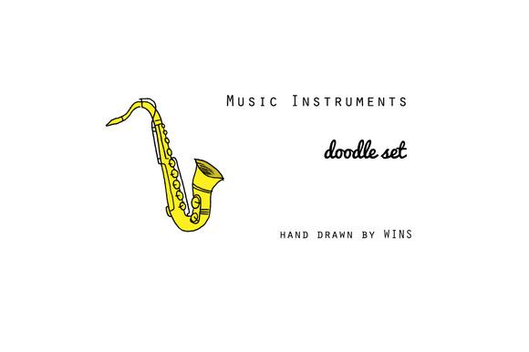 Music Instruments Doodle Set