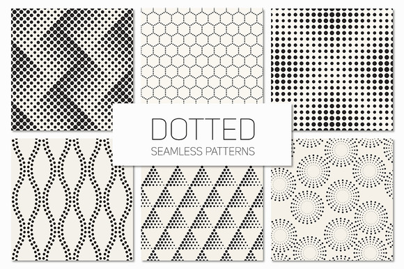 Dotted Seamless Patterns Set 3