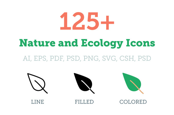 125 Nature And Ecology Icons