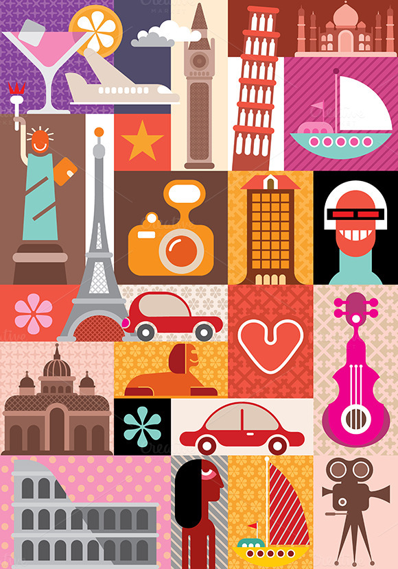 Travel And Tourism Vector Design