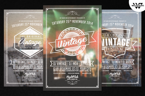 Vintage Vol.2 PSD Flyer Template