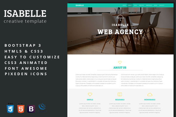 Isabelle Creative Agency Template