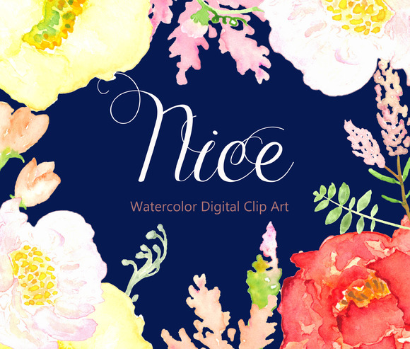 Wedding Clipart Digital Watercolour