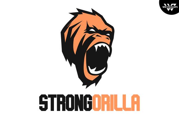 Gorilla Logo Vector Template