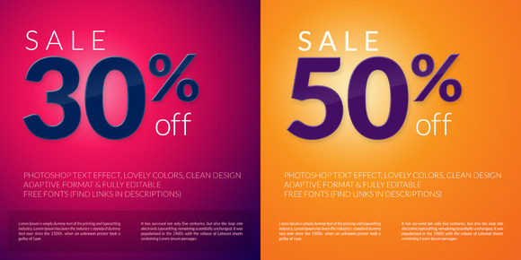 Sale Design Flyer Typography Effect