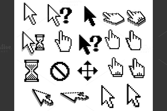 Pixel Cursor Icons For Web Design