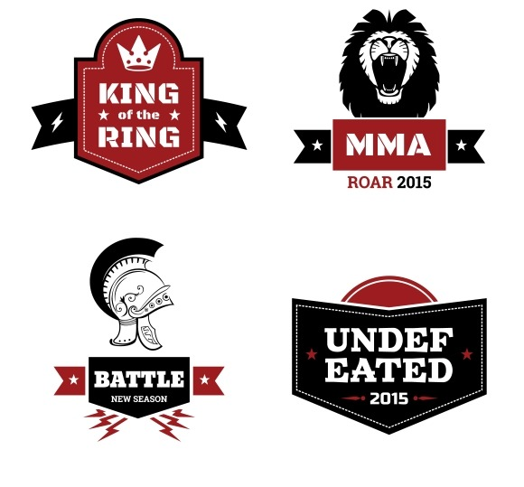 Martial Arts Logo Set