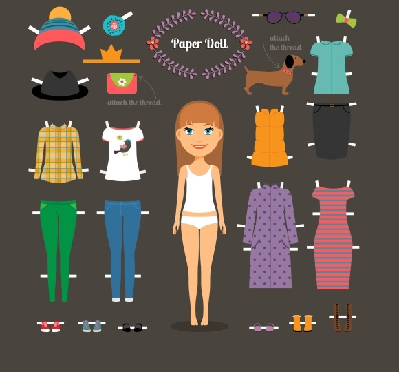 Dress Up Paper Doll