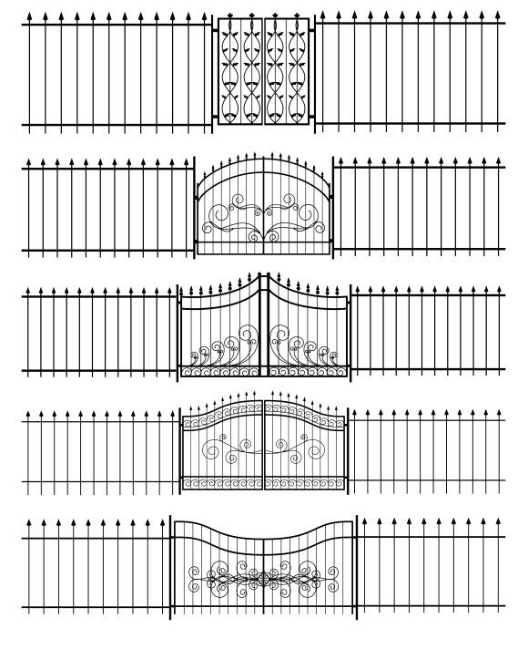 Gates And Iron Fence