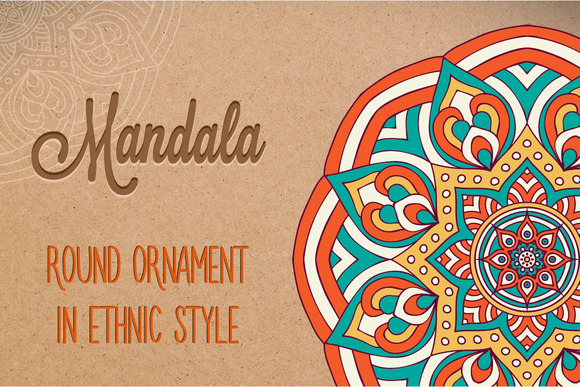 Mandala Ornament In Ethnic Style