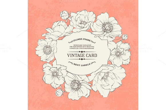 Poppies Vintage Card Design