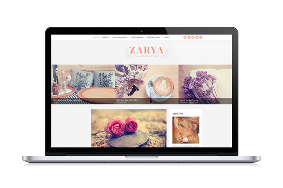 Zarya Personal Wordpress Blog Theme