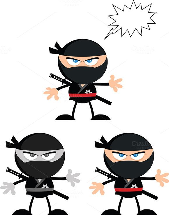 Flat Design Ninja Collection 4