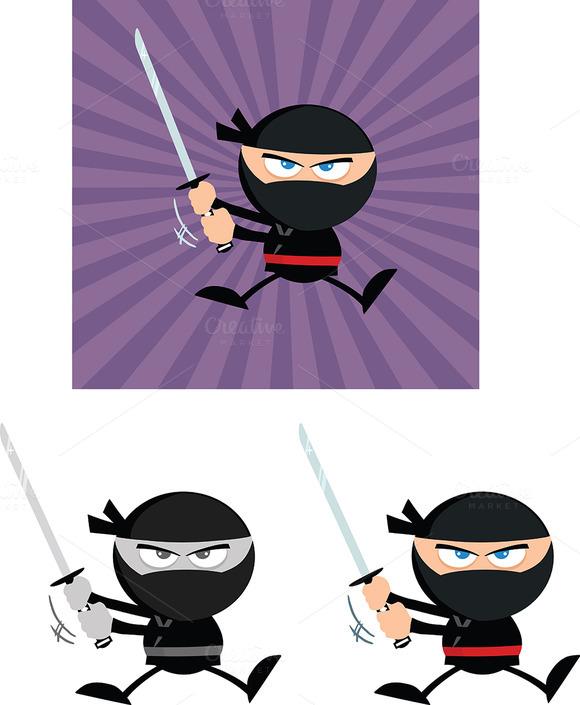 Flat Design Ninja Collection 5