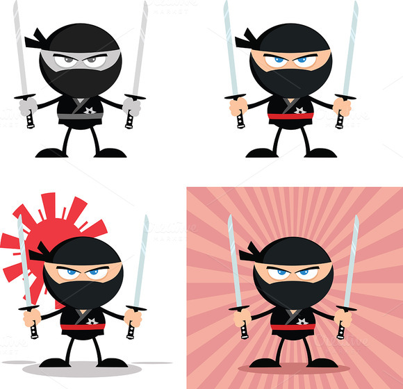 Flat Design Ninja Collection 6