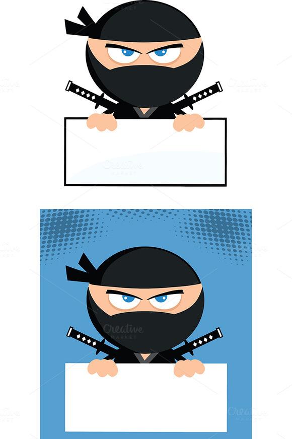 Flat Design Ninja Collection 7