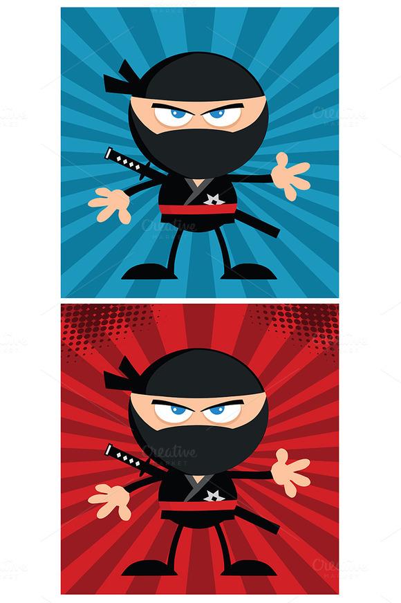 Flat Design Ninja Collection 9