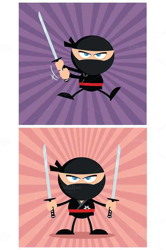 Flat Design Ninja Collection 10