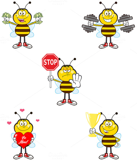 Bee Mascot Collection 1
