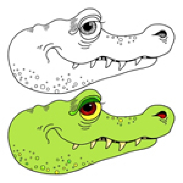 how to draw a cartoon alligator