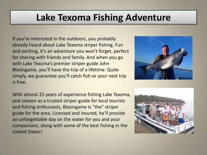 lake texoma striper guide essay Double r guide service provides striper fishing guide services on lake texoma.