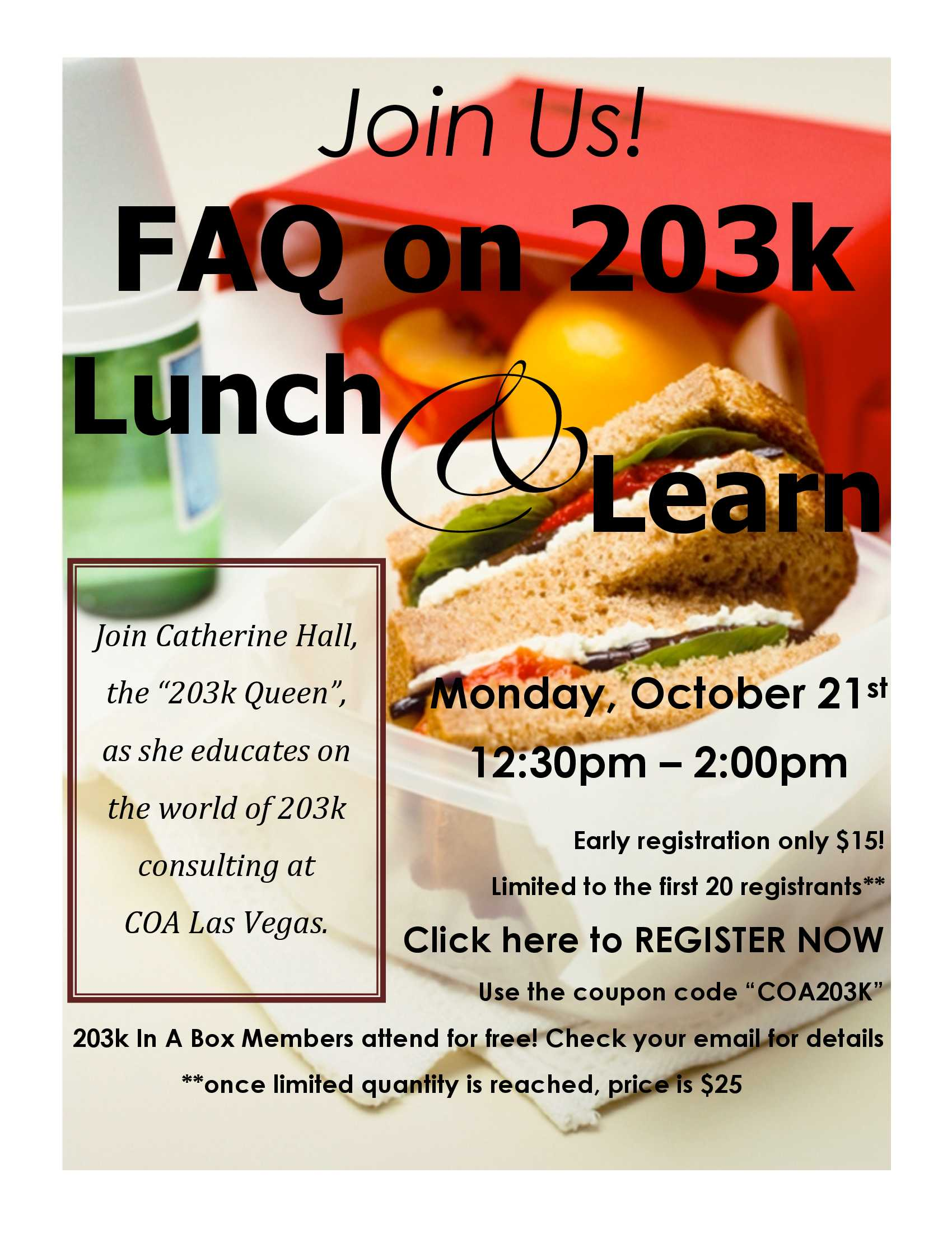 coa las vegas lunch and learn