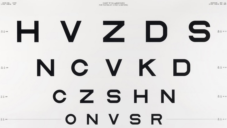 letter-based vision test board