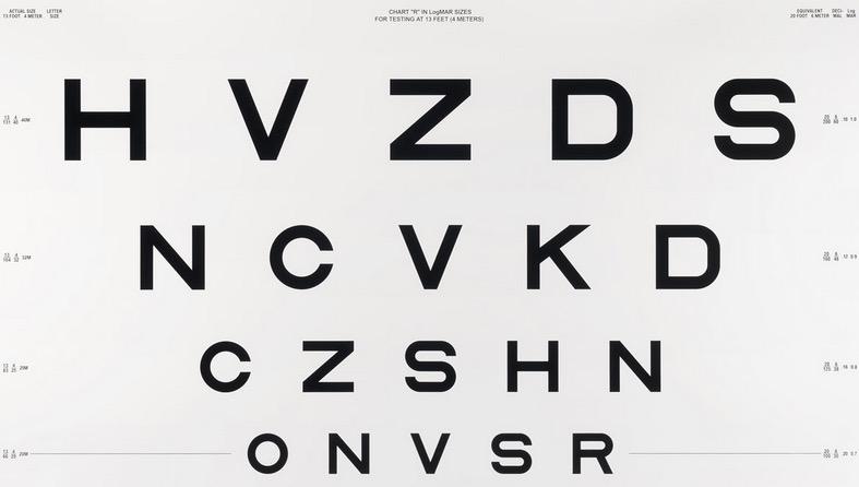 letter-based vision test board