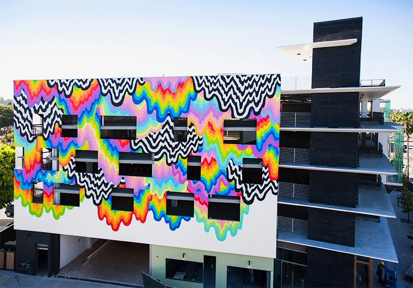 mural titled Technicolor Ooze
